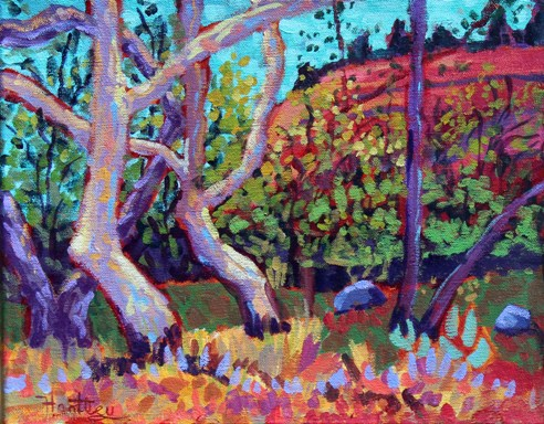 "Claudia Hartley - ""Sycamore Trunks"""