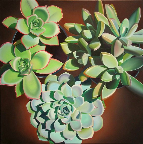 "Dyana Hesson - ""Plants and Pots, Succulents on the Patio"""