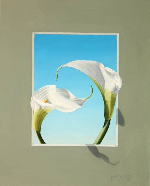 "Jane Jones - ""Calla Lily Trompe L'Oeil  IV"""