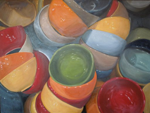 "Eve Plumb - ""Fishs Eddy Bowls Green Jewel"""