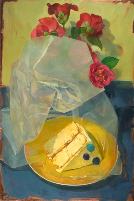 "Benjamin Shamback - ""Cake and Wax Paper with Camelias"""