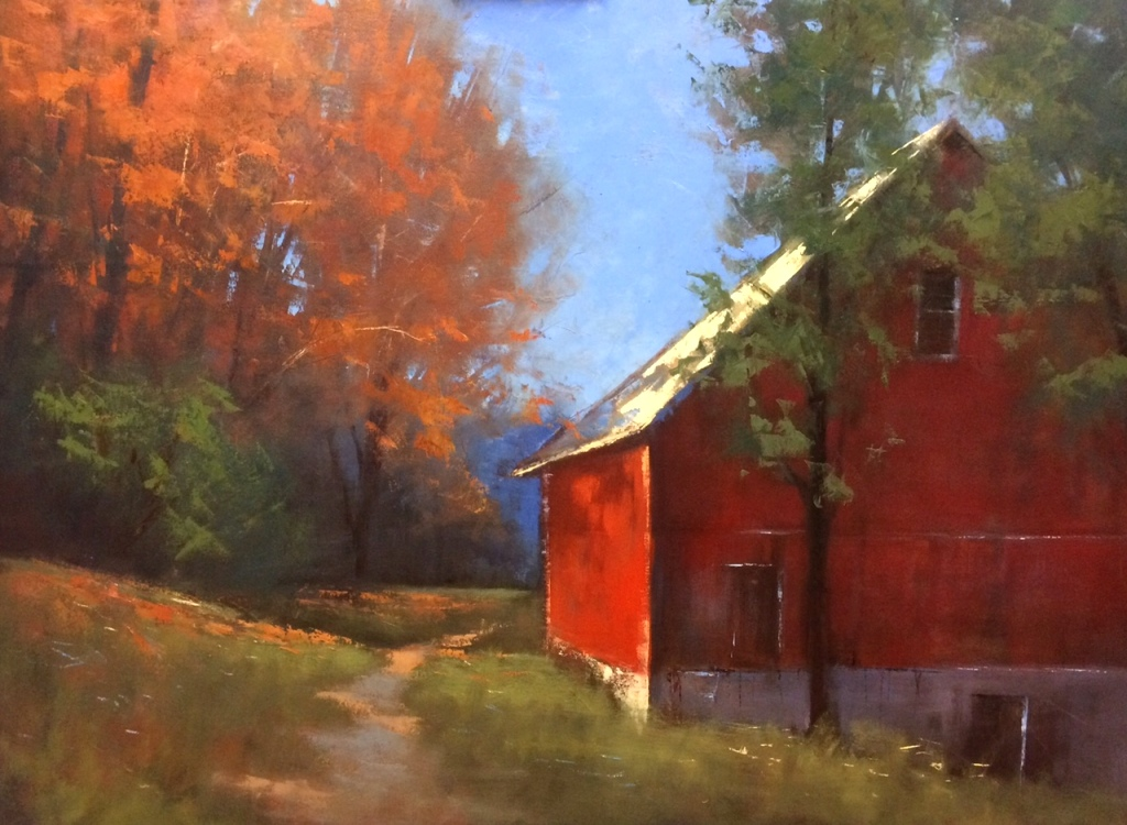 "Romona Youngquist - ""Old Barn in Autumn"""